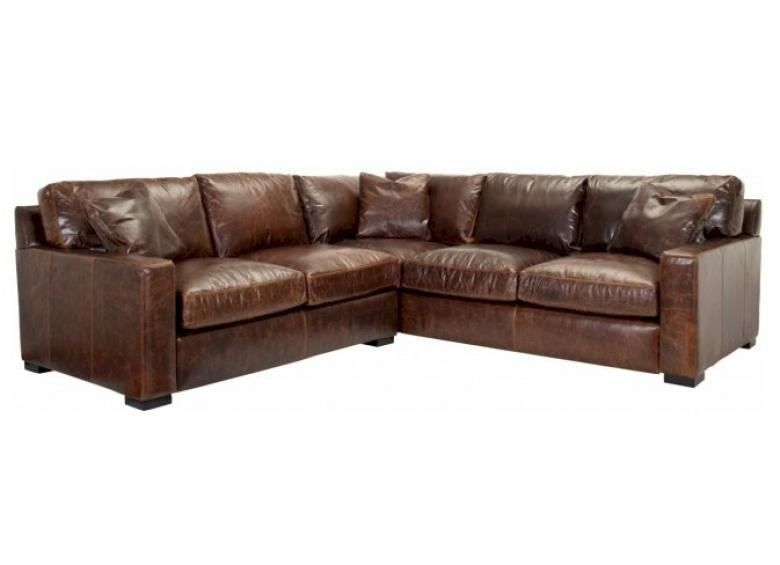 NAPA (MAXWELL) OVERSIZED SEATING LEATHER SECTIONAL ...