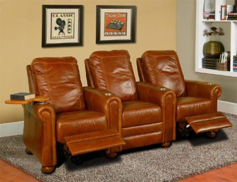 Diamonte Leather Theater Seating Collier 39 S Furniture Expo