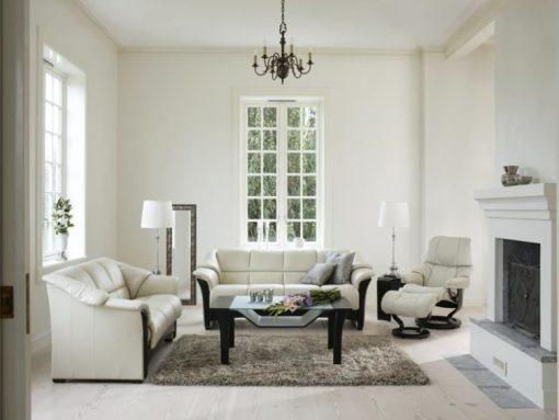 Ekornes Oslo Sofa Set Wood Trim