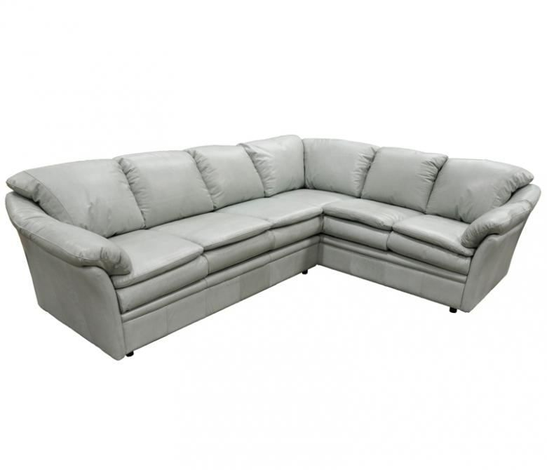 Omnia Uptown Leather Sectional Collier 39 S Furniture Expo