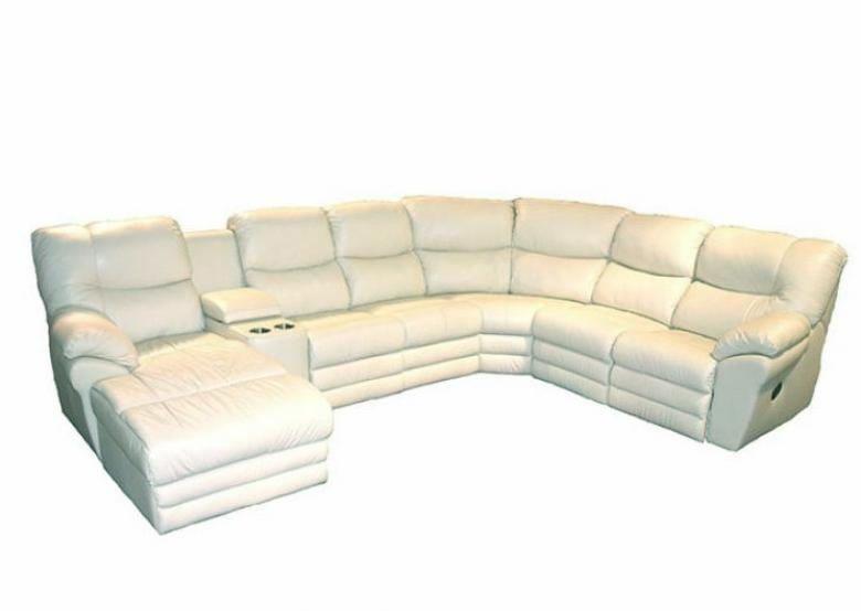 Palliser divo leather reclining sectional collier39s for Palliser sectional leather sofa