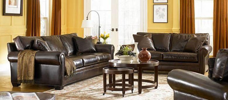 Sedona Lancaster Oversized Seating Leather Sofa Amp Set