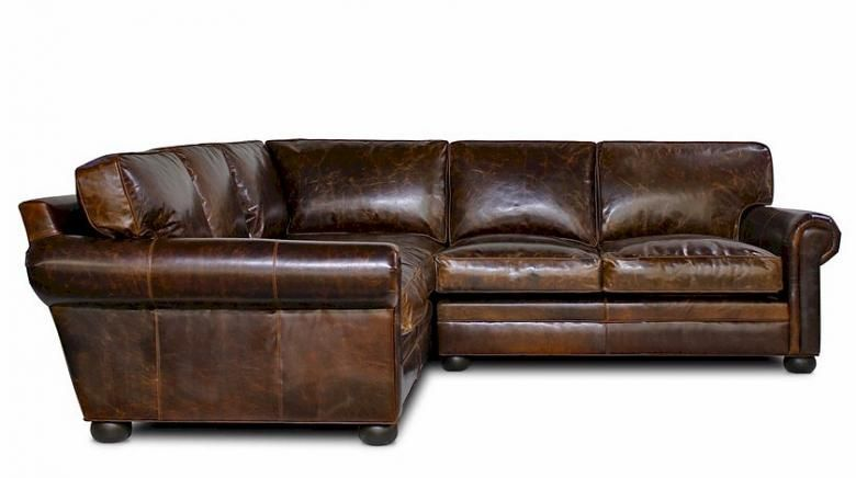 Oversized leather sectional sofa the for Oversized sectionals