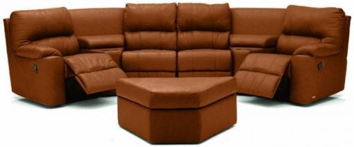PALLISER PICARD RECLINING LEATHER SECTIONAL