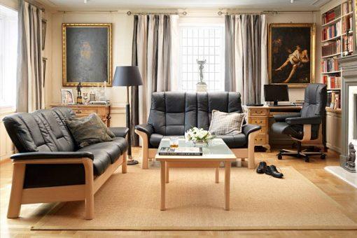 stressless buckingham low back sofa set