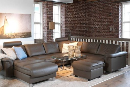 stressless e300 leather sofa set