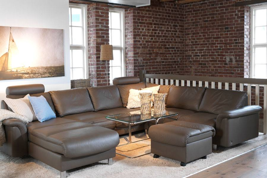 Stressless E300 Leather Sofa Set