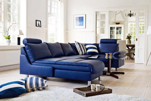 sectional set blue
