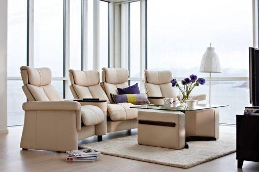 stressless legend low back sofa set