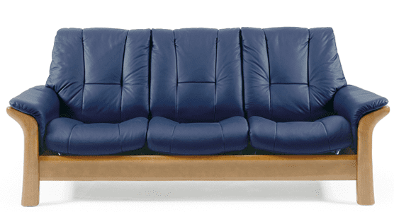 Stressless windsor low back leather sofa set collier 39 s for Low sofa set