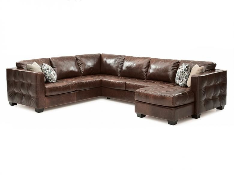 Palliser Barrett Leather Sectional Collier S Furniture Expo