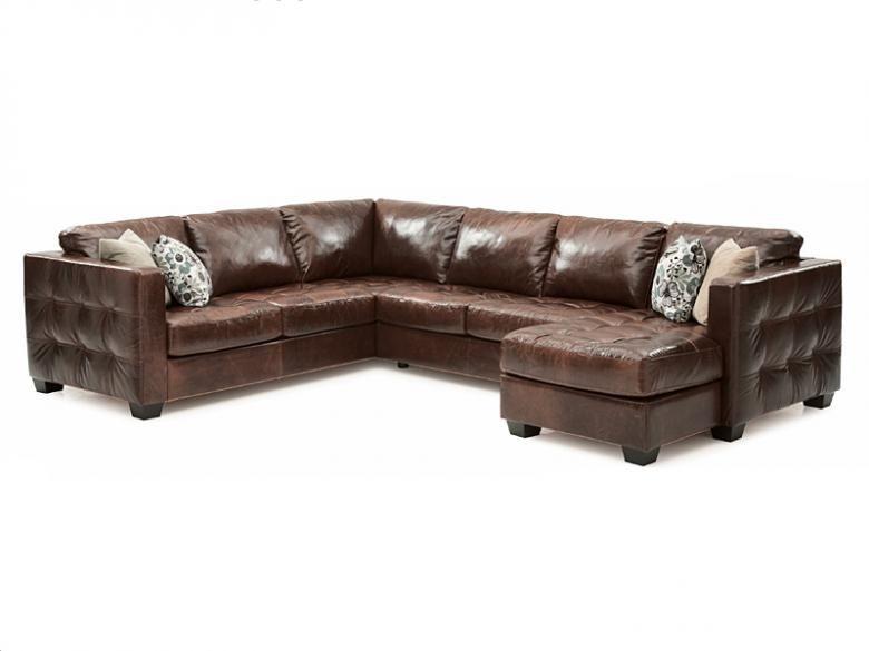 Palliser barrett leather sectional collier39s furniture expo for Palliser sectional leather sofa