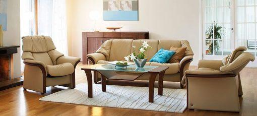 stressless el dorado low back leather sofa set
