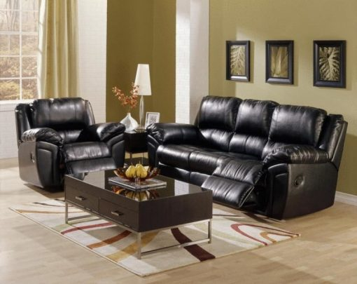 Daley Leather Reclining Sofa Set