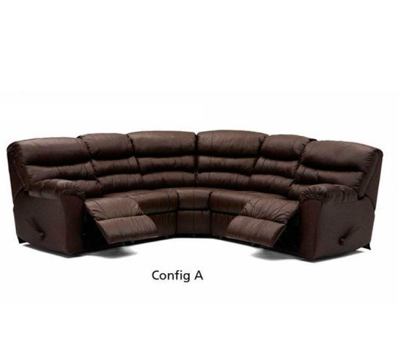 Palliser Leather Sofas: PALLISER DURANT LEATHER RECLINING SECTIONAL WITH SLEEPER