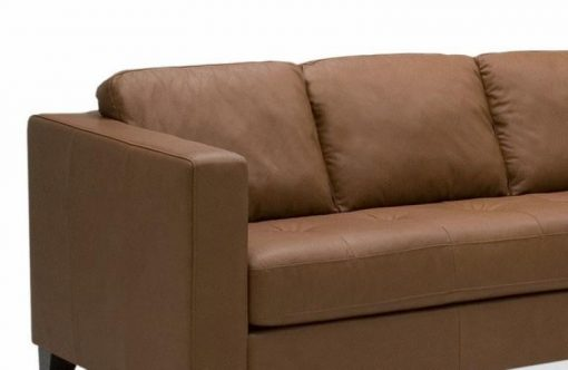 Jura Leather Sectional With Chaise