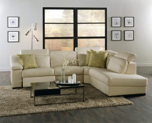 Kit Leather Reclining Sectional