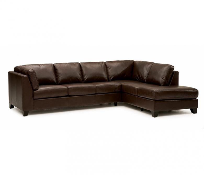 Palliser Leather Sofas: PALLISER COMO LEATHER SECTIONAL