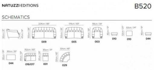 Natuzzi Editions B520 Sectional