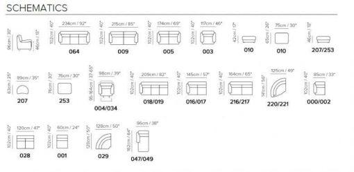 Natuzzi Editions B632 Sectional