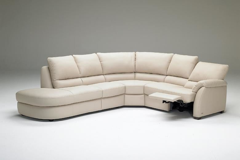 NATUZZI EDITIONS B693 LEATHER SECTIONAL   Collier s Furniture Expo