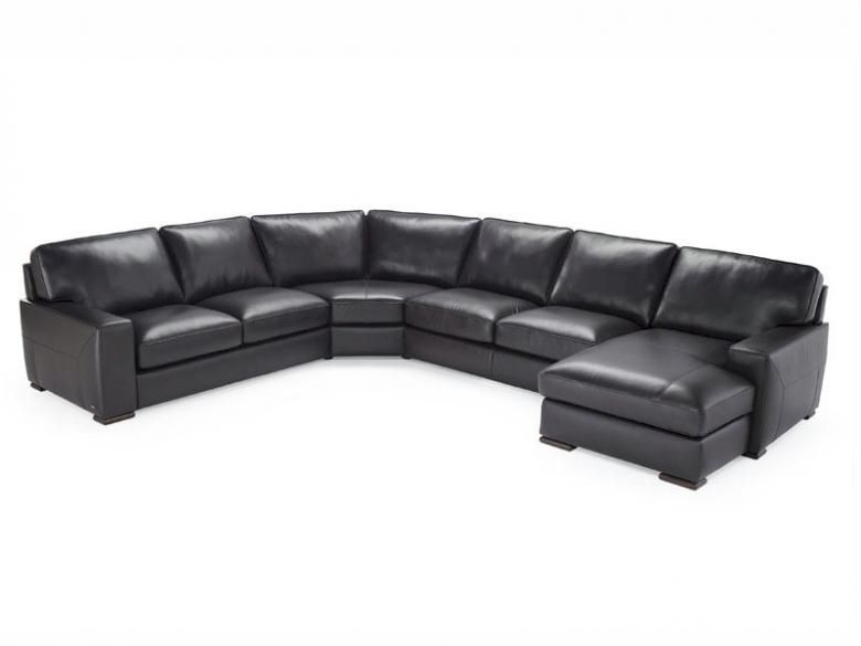 Home Theater Sleeper Sofa NATUZZI EDITIONS B859 LEATHER SECTIONAL | Collier's ...