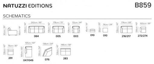 Natuzzi Editions B859 Leather Sectional