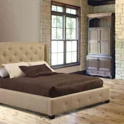 CINCINNATI TUFTED WING BED