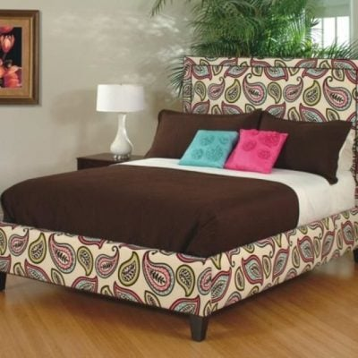 LINDA UPHOLSTERED HEADBOARD & BED