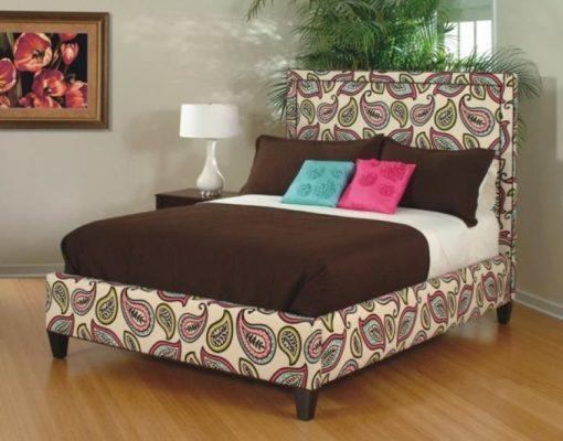 LINDA UPHOLSTERED HEADBOARD & BED