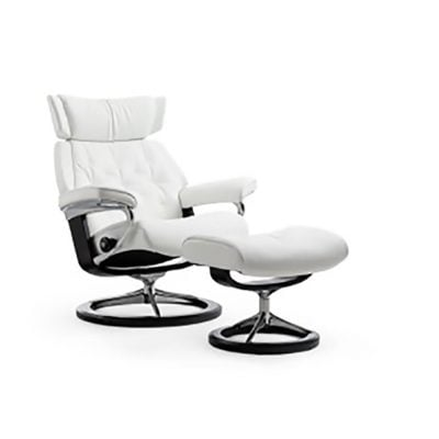 EKORNES STRESSLESS SKYLINE CHAIR & OTTOMAN