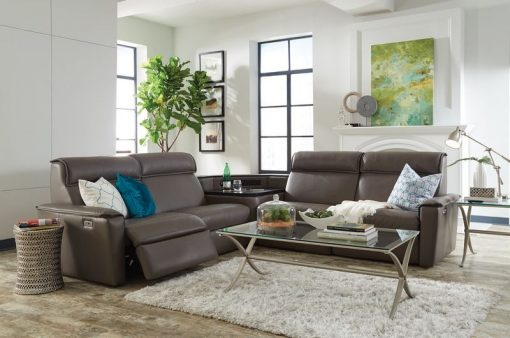 napoli sectional leather