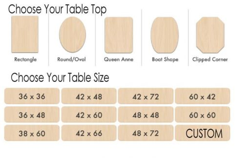 choose your table top